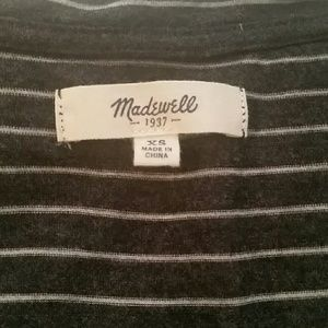 Madewell Charcoal Grey & White Striped XS